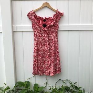 NWT Topshop Ditsy Floral Minidress